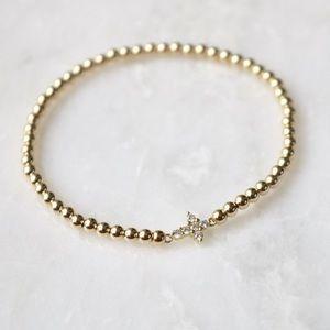Mireille Tiny Cross Bracelet